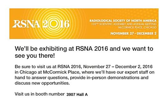 RSNA 2016 Preparations Underway